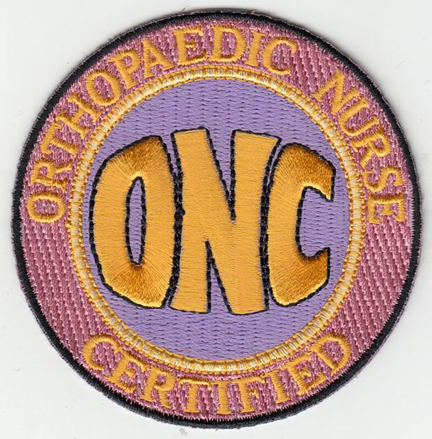 Onc Logo Patches Orthopaedic Nurses Certification Board